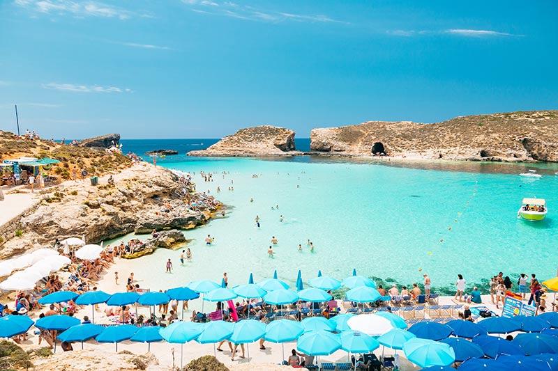 Blå lagunen - Blue Lagoon på Malta
