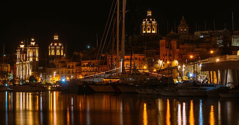 Three Cities på Malta - och ljusfesten i Birgu