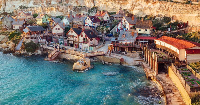 Popeye Village på Malta - i Karl Alfreds anda
