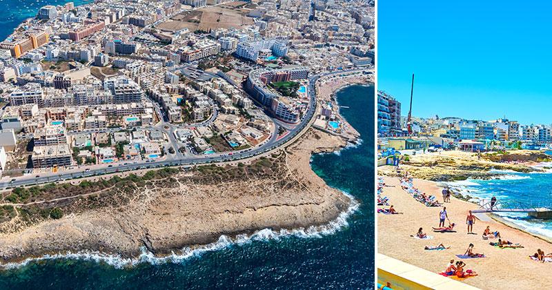 Qawra, Bugibba och St Pauls på Malta